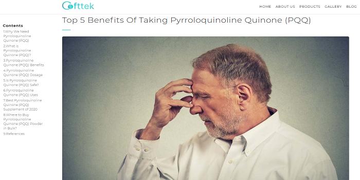 The Pqq Powder Mass Provides